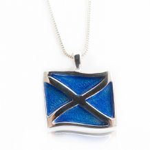 Scottish Flag Saltire Pendant Enamel